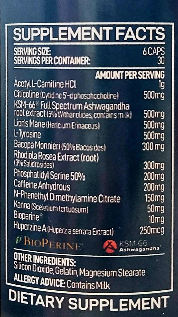 Nootropix Next-Gen Cognitive Enhancer 180 caps CROSS THE LIMITS Shop Vitamins & Supplements uk